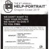 The 8th annual HELP-PORTRAIT Oregon Coast 2017