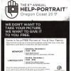 The 8th annual HELP-PORTRAIT Oregon Coast 2017