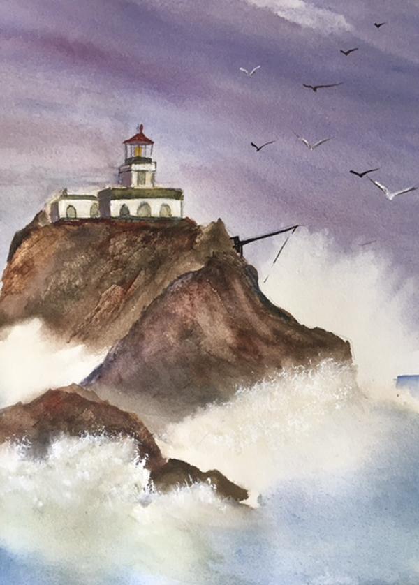 """""""Tillamook Rock Lighthouse"""" by Mark Adcock"""